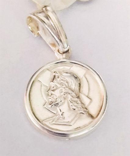 Imagen de Medalla Jesus plata italiana 925
