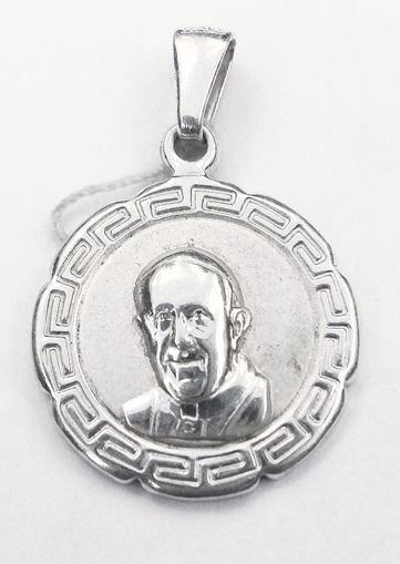 Imagen de Medalla Juan Pablo II plata italiana 925