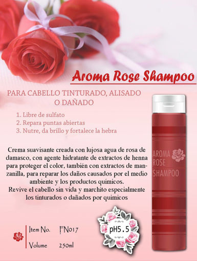 Imagen de Shampoo profesional de rosas