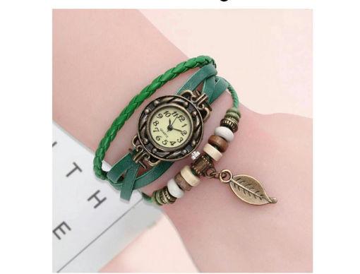 Imagen de Reloj multicolor con brazalete hecho a mano para mujer