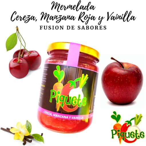 Imagen de Mermelada fusión cereza, manzana roja y vainilla