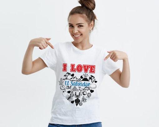 Imagen de Camisa I love El Salvador