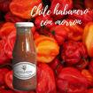 Salsa de Chile habanero con morron y zanahoria