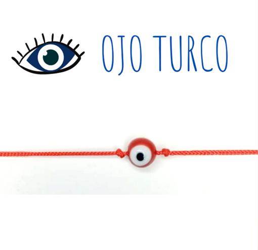 Imagen de Pulsera Ojo Turco Rojo
