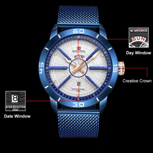 Imagen de NaviForce reloj de acero para hombre de acero