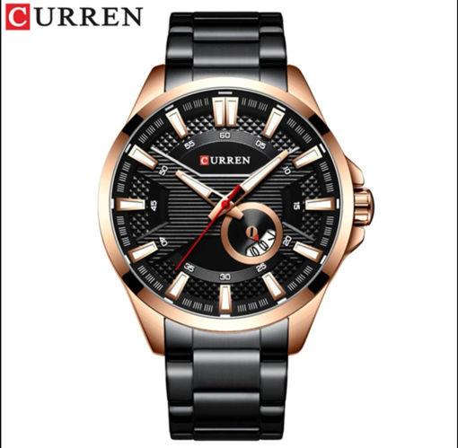 Imagen de Reloj caballero de acero marca CURREN