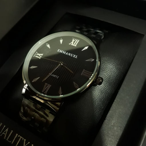 Reloj Negro Metalico para caballero