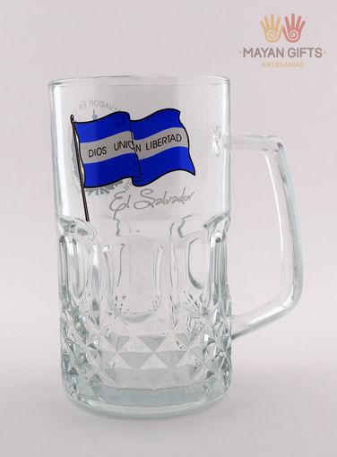 Imagen de Jarra de vidrio escudo y bandera