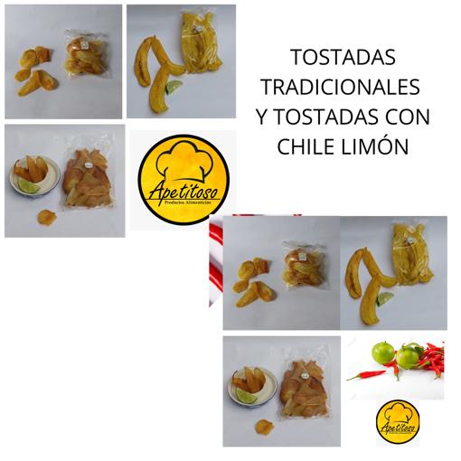 Imagen de Tostadas de Plátano, Yuca y Papa Tradicionales y Chile Limón