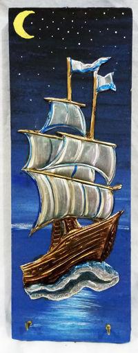 Imagen de Repujado portallaves diseño velero