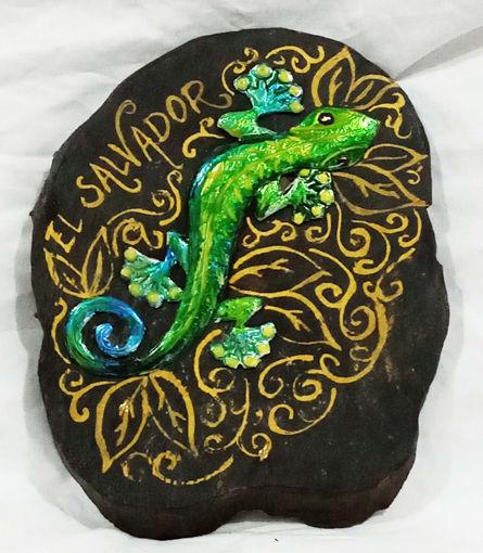 Imagen de Portallaves gecko verde