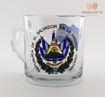 Imagen de Taza de vidrio escudo y bandera