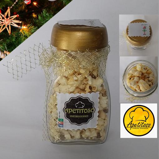 Imagen de Popcorn gourmet sabor queso cheddar (Presentación Navideña)