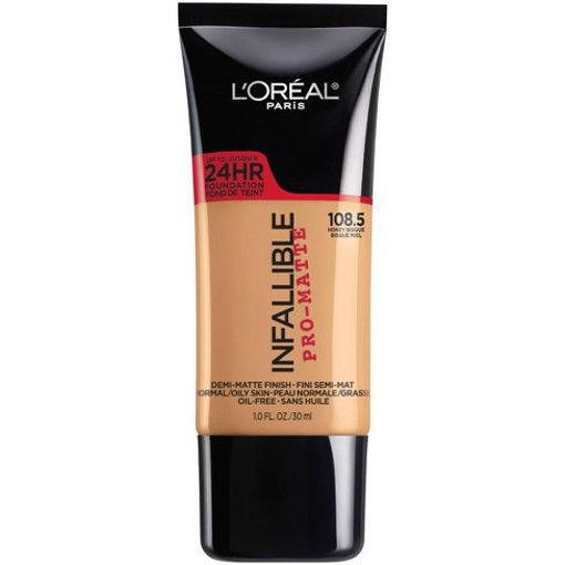 Imagen de Base de L'Oreal Paris Infallible Pro-Matte Foundation Normal/Oily Skin 108.5 Honey Bisque