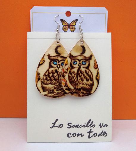 Imagen de Aretes artesanales de Búho.