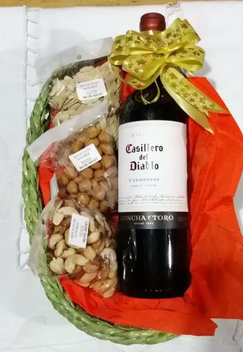 Imagen de Canasta semillas c/vino tinto