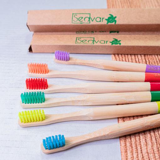 Imagen de Cepillo de dientes de bambú para niños