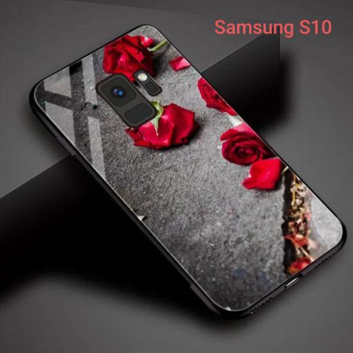 Imagen de Funda de vidrio templado para celulares Samsung