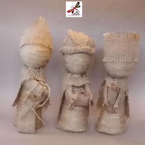 Imagen de Los tres reyes magos artesanales