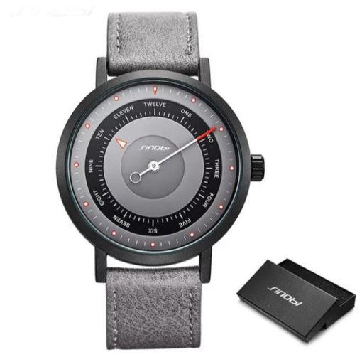 Imagen de Reloj minimalista con diseño de brújula