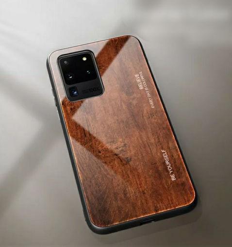 Imagen de Funda de vidrio templado y silicona para celulares Samsung A20, A20S, A30, A30S, A50 y A50S