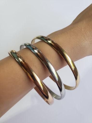Imagen de Set de 3 pulseras de acero inoxidable.