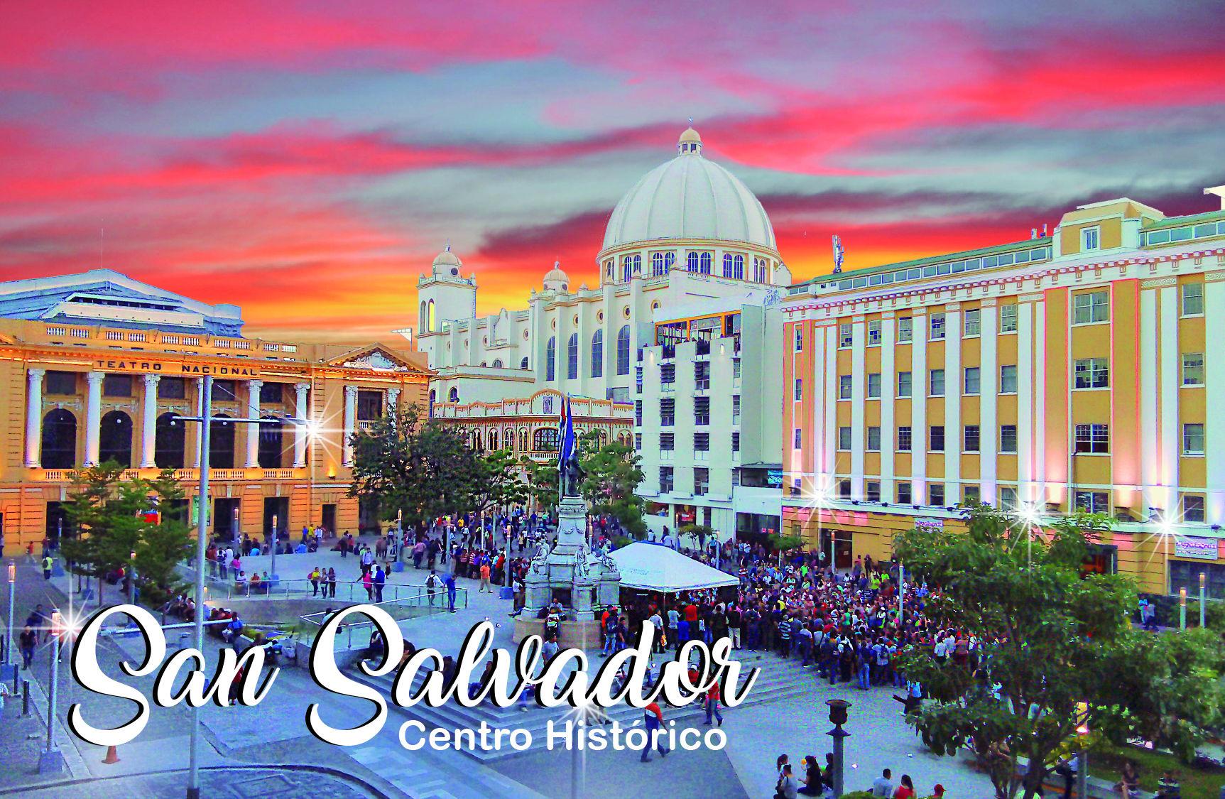 Magneto rectangular Plaza Morazán, Centro Histórico San Salvador