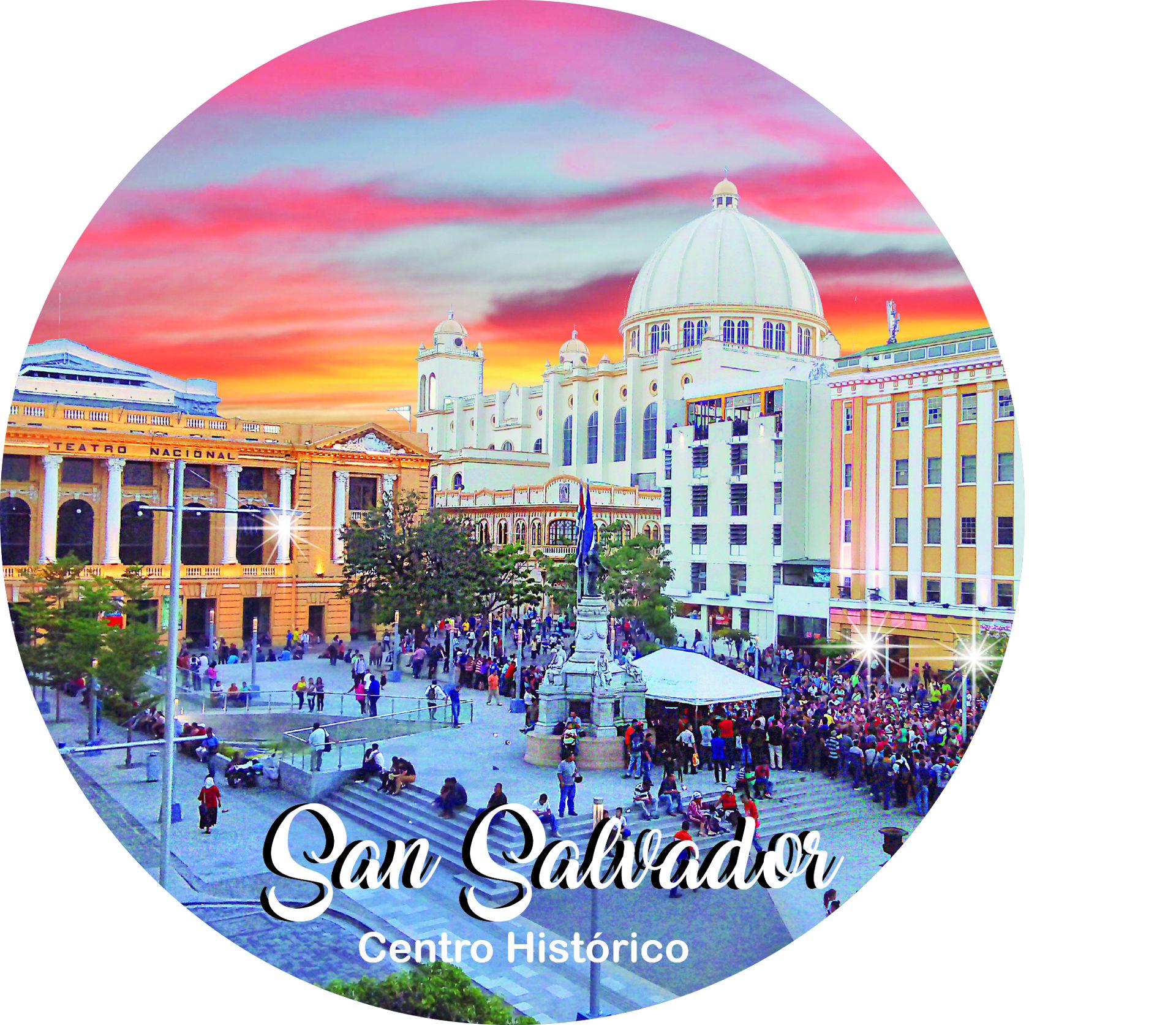 Magneto circular Plaza Morazán, Centro Histórico San Salvador
