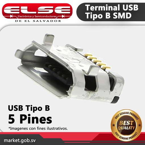 Terminal USB tipo B SMD