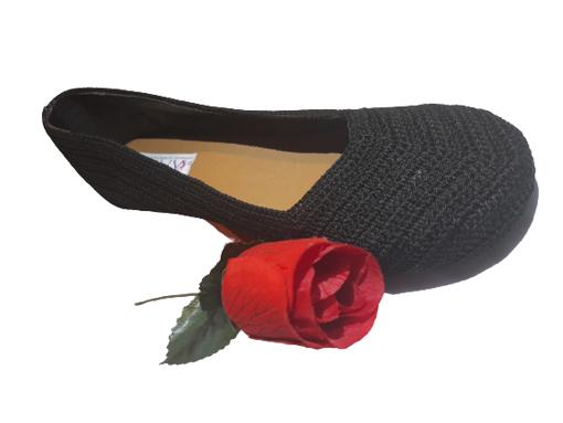 Imagen de Zapatilla estilo croché negro