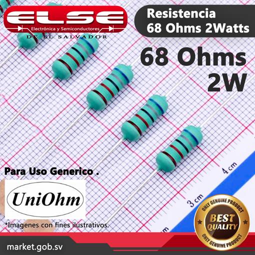 Resistencia de 68 Ohms 2 Watts