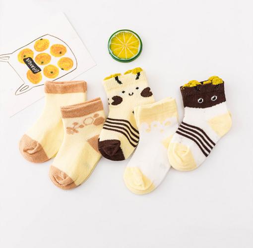 Imagen de 5 Pack de calcetines con figuras de animalitos