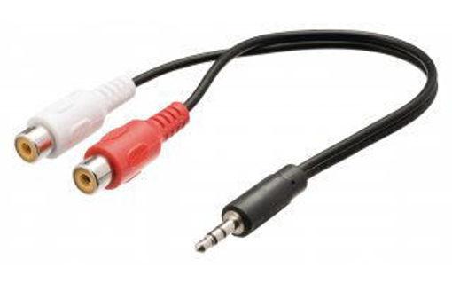Imagen de Cable de audio adaptador RCA hembra a 3.5 mm
