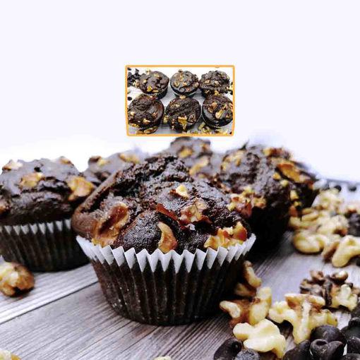 Imagen de Muffin de Chocolate, Nueces y Banano