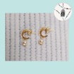 Imagen de Mini argollas con perlas