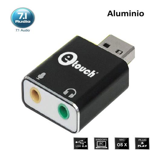 Imagen de Adaptador de audio y micrófono vía puerto USB