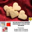 Imagen de Kit de Galletas Corazón Horneadas y Listas para Decorar (25 unidades)