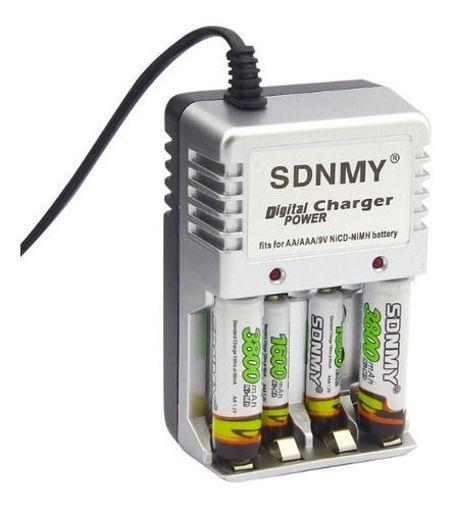 Imagen de Cargador de baterías recargables con kit de baterías