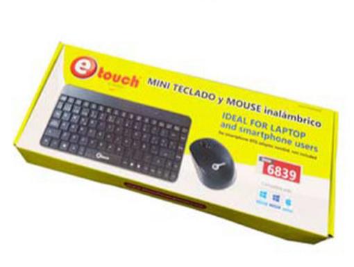 Imagen de Mini Teclado y Mouse Inalámbrico
