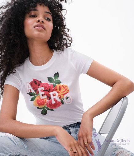 Imagen de Camiseta AEROPOSTALE original ( Aero Roses Appliqué Graphic Tee)
