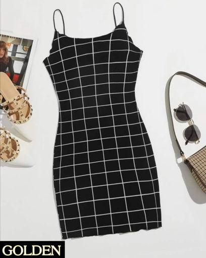 Imagen de Vestido Negro a Cuadros