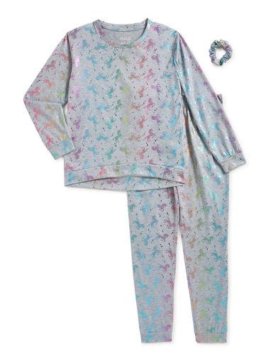 Imagen de Pijama de unicornio + Scrunchie Talla 6