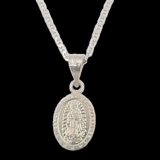 Imagen de Cadena más dije Virgen de Guadalupe, Plata 925