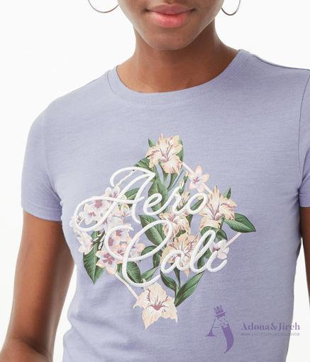 Imagen de Camiseta AEROPOSTALE con estampado floral ''Aero Cali''