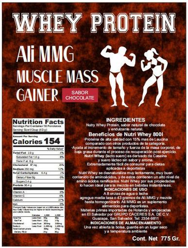 Imagen de ALI MMG Proteina a base de lactosuero generador de masa muscular