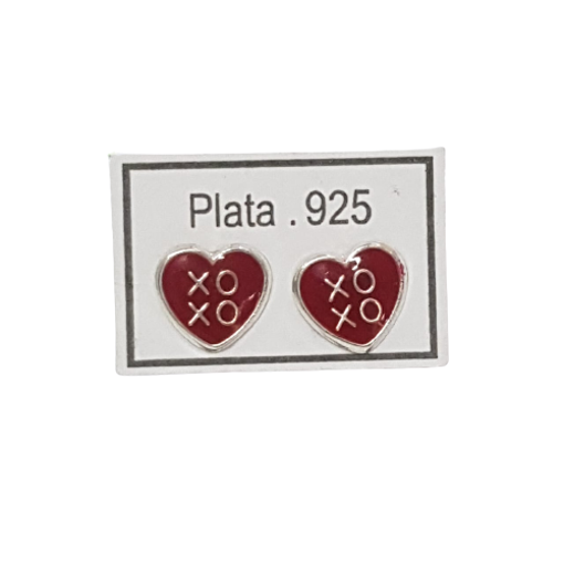 Imagen de Arete Corazón Varios Plata 925