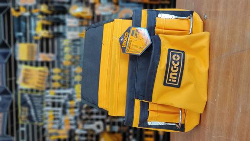 Imagen de Porta herramientas para cinturón 12 compartimientos INGCO