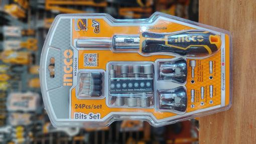 Imagen de Destornillador ratchet con puntas intercambiables y cubos magnéticos