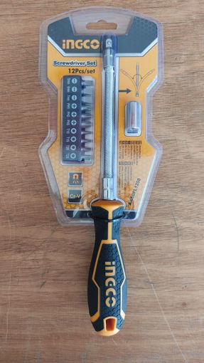 Imagen de Destornillador eje flexible con puntas intercambiables