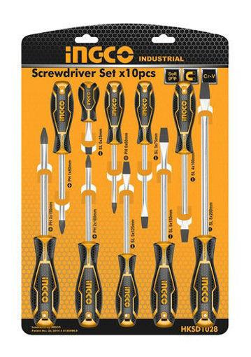 Imagen de Set de 10 destornilladores phillip/plano